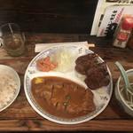 一隆 - ミックス定食(タン4切れ)(1,400円)