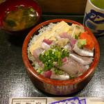 116153440 - イワシ丼750円大盛+100円
