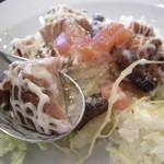 びぃcafe - 鶏のテリヤキアップ! かなり甘い味付け。。マヨマヨは個人的には要らなかった。^^;