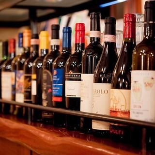ワイン中心にドリンク充実◆お好みの1杯と楽しむマリアージュ
