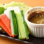 蟹味噌バーニャカウダ