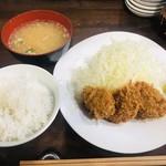 とんかつ ひがさ - レディースヒレ 追加味噌汁 800円