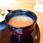 天青 - 【天丼@1,500円】しじみ汁