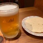 ナマステ・ネパール - 生ビールとお通し