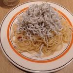 木村スパゲティ - 和田島産かまあげしらすのペペロンチーノ
