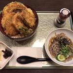 さざん亭 - 料理写真:野菜天ぷらハーフ麺セット