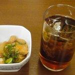 ヤマハチ商店 - つきだし+梅酒 ※2009年2月