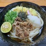 かしむらうどん - 料理写真:ぶっかけ(冷)・・・肉トッピング