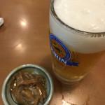 蛇の目 - ドリンク写真:生とお通しの塩辛
