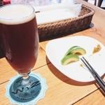 WIZ CRAFT BEERandFOOD - クラフトビール2杯目は、バーバリックワークス(茅ヶ崎市)の「ジャマイカの夜」(Sサイズ600円+税)!