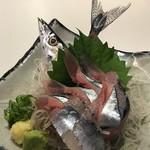 鮨と肴と日本酒 涛〃 - 北海道さん新物生秋刀魚造り(売り切れ御免)