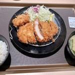 松のや - 厚切ロースヒレ1枚定食