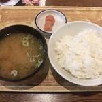 天神橋2丁目食堂 - ご飯セット 250円(税別)