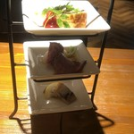 丸バル 北海道食市場 丸海屋バル - 前菜3種盛り合わせ