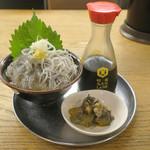 オカゲサマ - 生シラスと釜あげシラスご飯300円