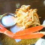 ちゅーりっぷ - 蟹、かき揚げ、温玉