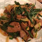 中華料理 豊楽園 - ニラレバセットのメイン ちょっと辛い
