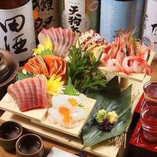 鮮度抜群のお魚を【お造り】としてご堪能!
