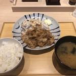 116266308 - 生姜焼き定食