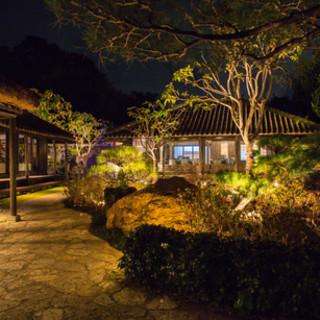 中庭の琉球古民家庭園は人気のフォトスポット。琉球を感じて…