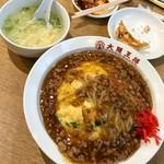 116268799 - 肉あんかけニラ玉炒飯:695円+税