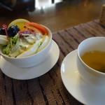 珈琲 ひとり静か - 料理写真:サラダとスープ