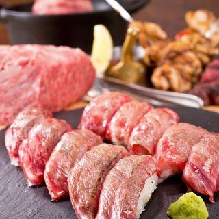 肉汁たっぷり肉バル料理やこだわりの肉寿司が自慢の肉居酒屋