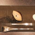 オリヴィエオドラン - 左からサーモン レバー かぼちゃチーズ掛け。