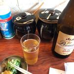 銀座 井泉 - あれ、早速ビールって…飲み納めですな。