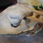 十三 すし屋台 - 岩牡蠣 海水のムース