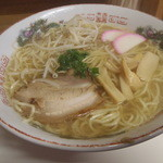 ゆらや食堂 - 牛骨ラーメン大盛650円