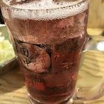 串カツ田中 - ドリンク写真:赤玉サワー。半額◎