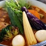 116293958 - 「ラム野菜カリー」竿と玉二つ…ワ~~ォ♡偶然の盛り付け!?
