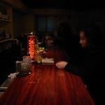 バー ノーツ - カウンターを真横から撮ってみました。
