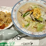 南蛮船 - 料理写真:チャンポンミニチャーハンセット710円