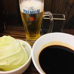 串カツ さくら - 生ビール&キャベツ