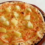 マカロニ食堂 - 明太子とジャガイモのマヨネーズピッツァ780円