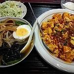 翔ちゃん - 麻婆丼+半ラーメン