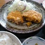 大川昇開橋温泉 食堂 - 野菜コロッケとかぼちゃコロッケ