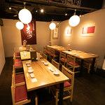 日本酒の魚枡 - テーブル席