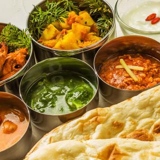 独自のスパイスを調合。本格ネパール料理食べ飲み放題!