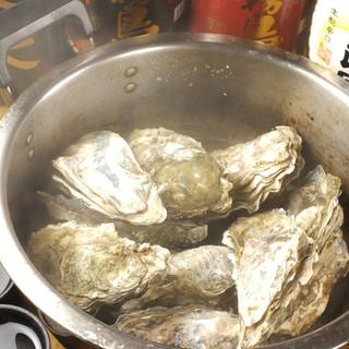 当店一番人気!「牡蠣のガンガン焼き」