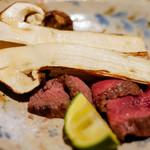 松陰鶴水 - 松茸と牛肉
