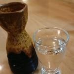 """まぐろ三昧那智 - 日本酒""""熊野三山""""一合 700円"""