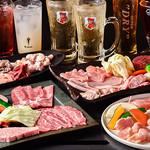 佐賀牛焼肉 上場亭 - セットも4つあり、特上和牛セットや、上場亭セット、スタミナセット、九州ブランド鶏5点盛りと幅広くご準備。