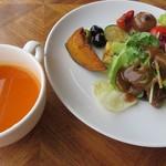 116365758 - 野菜とアンティパストバー&冷たいキャロットスープ