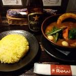 ラマイ 横浜伊勢佐木モール店 - チキンカレー&サッポロビール