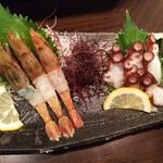 Tamoya - 猛者海老、水タコの刺身