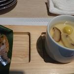 116380508 - 秋刀魚の握りと季節の茶碗蒸し