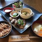 和楽cafe - まぐろの頬肉ステーキ